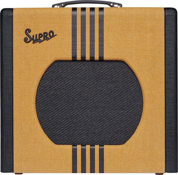 Supro Delta King 1x12 Tube Amplifier w/ Reverb (tweed & black)
