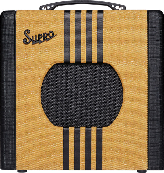 Supro Delta King 1x8 Tube Amplifier (tweed and black)