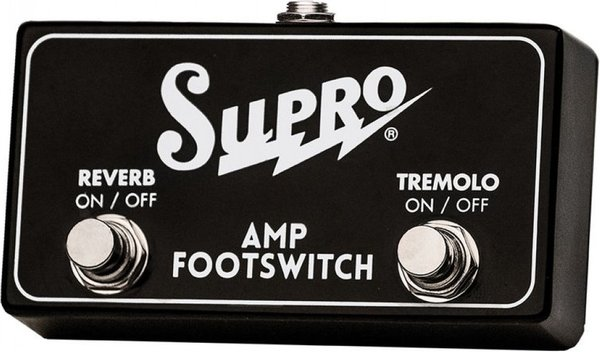 Supro Dual Footswitch Tremolo & Reverb On/Off Remote / SF2