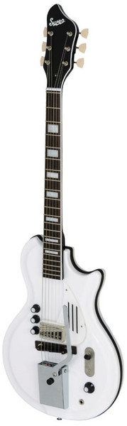 Supro White Holiday Americana Guitar (dawn white)