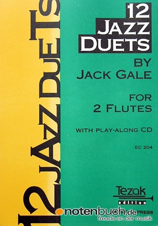 Tezak 12 Jazz Duets Gale Jack Songbooks for Flute