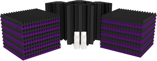 Universal acoustics Mercury 3 (purple - charcoal) Acoustic Treatment Kits