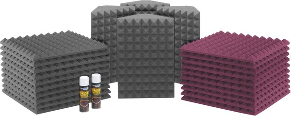 Universal acoustics Saturn 3 (charcoal - burgundy) Acoustic Treatment Kits