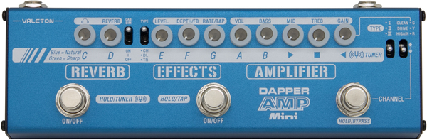 Valeton Dapper Amp Mini (with 9V power supply) Gitarren-Multi-Effekt-Bodenpedal