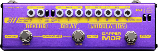 Valeton Dapper MDR / Mod/Delay/Reverb (with 9V power supply) Gitarren-Multi-Effekt-Bodenpedal