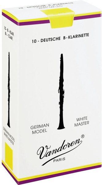 Vandoren Bb Clarinet White Master 3 (10 reeds set) Bb Clarinet Reeds 3 German