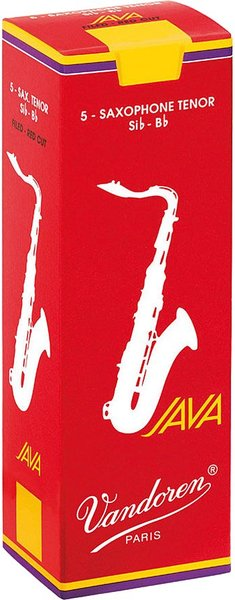 Vandoren Tenor Saxophone Java Red  3.5 (5 reeds set) Tenor Saxophone Reeds Strength 3.5