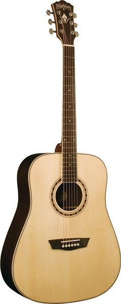 Washburn WD920S (Natural Gloss) Western Guitar without Cutaway and Pickup