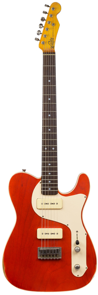 Whitfill Custom Guitars Relic'd T-Style P90 RW (custom red/light relic) E-Guitar Modelos T