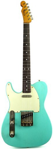 Whitfill Custom Guitars Relic'd T-Style RW Lefthand (seafoam green lefthand)