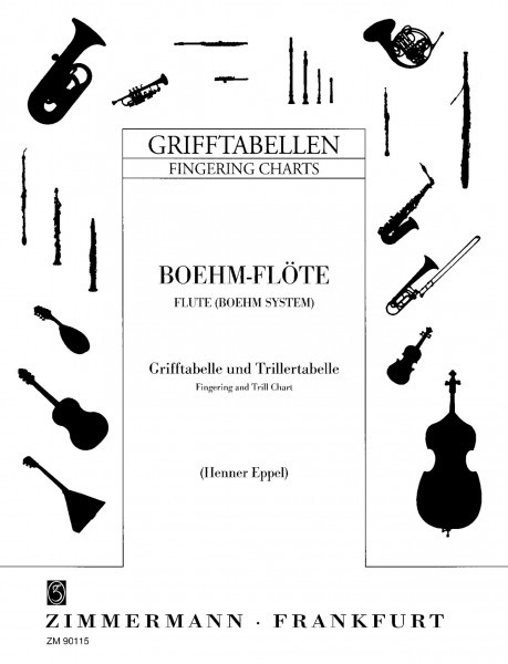 Zimmermann Grifftabelle Klarinette (Böhm) Songbooks for Clarinet