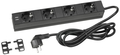 Adam Hall 87470 USB Power Strip (4 Sockets + 2 USB Charging Ports)