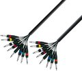 Adam Hall Multicore Mono Cable (8 x 6,3mm Jack - 3m)
