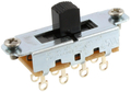 Allparts EP-0261-023 Switchcraft Black On-Off-On Slide Switch