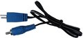 Cioks Flex Cable Type 7 - 2-Pin DIN2 Plug (I-shape / 50cm / blue)
