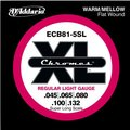 D'Addario ECB81-5SL Chromes Bass 5-String, Light /  45-132 (Super Long Scale)