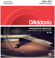 D'Addario EJ78 Mandocello 8 Strings Phos. Bronze (.022 - .074 medium light)