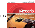 D'Addario EJ84M - 10 Sets Acoustic Gypsy Jazz (.011-.045)