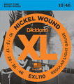 D'Addario EXL110 Regular Light / 010-046 E-Gitarren Saitensatz .010