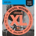 D'Addario EXL110w Regular Light Nickel Wound (Wound 3rd, 010-046) .010 Electric Guitar String Sets