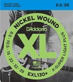 D'Addario EXL130+ Extra-Super Light Plus / 008.5-039 E-Gitarren Saitensatz .007 / .008