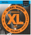 D'Addario EXL160-5 (.050-.135 / long scale regular)