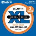 D'Addario EXL160TP / 2 Sets (.050-.105 / long scale regular)