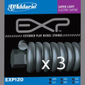 D'Addario EXP120 Super Light / 009-042 (set of 3)