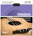 D'Addario EXPPBB190GS Coated Phosphor Bronze Acoustic / Taylor GS Mini Scale (.037-.090)