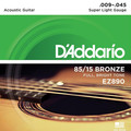 D'Addario EZ890 Super Light 009-045
