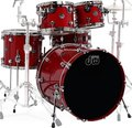 "DW Performance Specialty Laquer Shellset (candy apple red) Akustik-Schlagzeugsets 22"" Bassdrum"