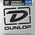 Dunlop El. Bass 5-String .045-.125 'Super Bright' Nickel Pl. Steel R./W. Long Sc. Medium