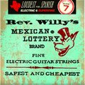 Dunlop Rev. Willy's Mexican Lottery Nickel Plated Round Wound, Super Fine / .007 - .038