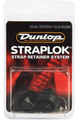Dunlop Straplock System Dual Design Set of 2 (black oxide) Tragband Strap-Locks