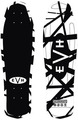 EVH BW Striped Skateboard (black and white)