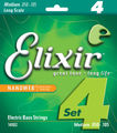 Elixir NanoWeb 4-Set Nickel Plated Steel Long Scale (medium / .050-.105)
