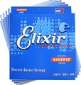 Elixir NanoWeb Plated Plain Steel Set of 5 Packs (light / .010-.046)