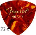 Fender 346 Shape - Classic Celluloid - Heavy / Triangle Tortoise (72 pieces)