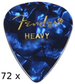 Fender 351 Shape Premium Celluloid (blue moto heavy - 72 picks)