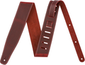 Fender Broken-In Leather Strap (red 2.5'') Gitarren-Gurt