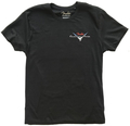 Fender Custom Shop Blk T-Shirt, Red/S (large)