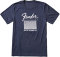 Fender Deluxe Reverb T-Shirt, Blue (Small)