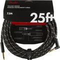Fender Deluxe Tweed Instrument Cable AS (7.5m black tweed angled/straight)