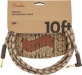 Fender Festival Instrument Cable (3m angled pure hemp brown stripe)