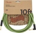 Fender Festival Instrument Cable (3m angled pure hemp green)