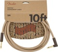 Fender Festival Instrument Cable (3m angled pure hemp natural)