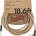 Fender Festival Instrument Cable (5.5m angled pure hemp natural)