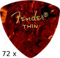 Fender Triangle Tortoise Thin (72 picks)
