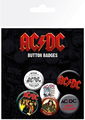 GB eye AC/DC Mix Badge Pack (4 x 25mm + 2 x 32mm)