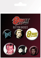 GB eye David Bowie Mix Badge Pack (4 x 25mm + 2 x 32mm)